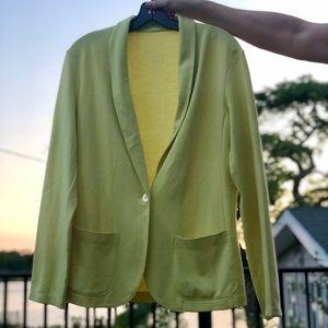 Lemon/Lime Cotton Blazer